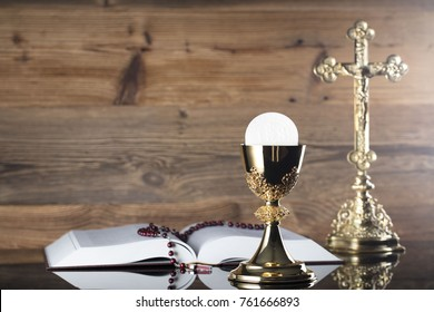 Christianity symbols composition.