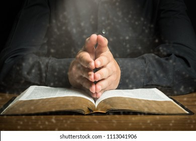Christians and Bible study concept