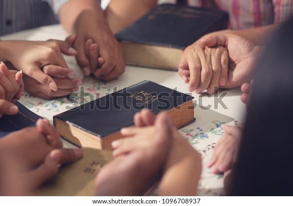 Christians Bible Study Concept Group Discipleship Stock Photo (Edit