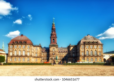 Christiansborg Palace is a palace and government building on the islet of Slotsholmen in central Copenhagen, Denmark. It is the seat of the Danish Parliament (Folketinget),