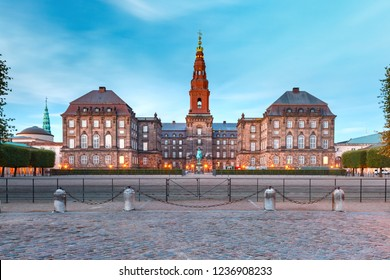 Christiansborg, palace and government building, the seat of parliament, in central Copenhagen, capital of Denmark