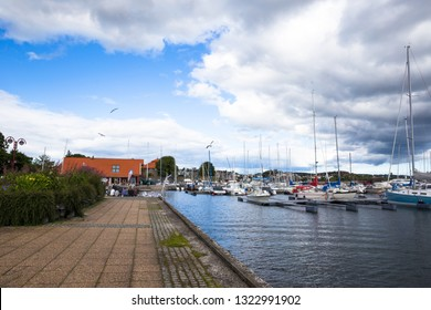 Christianssand city at sunny summer day. Norway