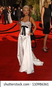 Christina Aguilera arriving at the 59th Annual Primetime Emmy Awards. The Shrine Auditorium, Los Angeles, CA. 09-16-07