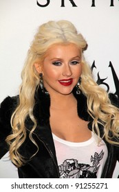 "Christina Aguilera at the ""Skyrim"" Official Launch Party, Belasco Theater, Los Angeles, CA 11-08-11"