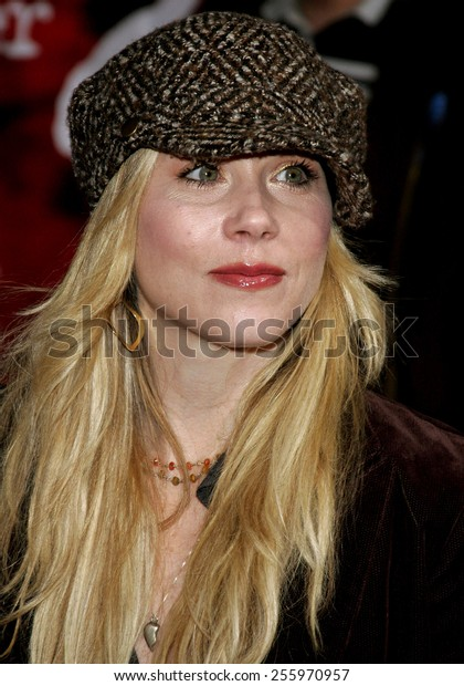 "Christina Applegate attends the Los Angeles Premiere of ""The Number 23"" held at the Orpheum Theater in Los Angeles, California on February 13, 2007."