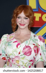 Christina Hendricks at the World premiere of 'Toy Story 4' held at the El Capitan Theater in Hollywood, USA on June 11, 2019.