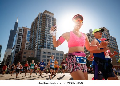 Christina Kyungjin Park competes in The Chicago Marathon in Chicago, Illinois October 8, 2017. The Chicago Marathon is one of the six World Marathon Majors.