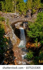Christine falls and bridge, Ranier National Park, Washington.