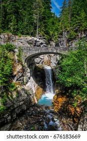 Christine Falls in Mt. Rainier National Park, Washington State, USA
