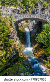 Christine Falls in Mt Rainier National Park in Washington State in the United States