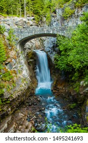 Christine falls and rock bridge, Ranier National Park, Washington.