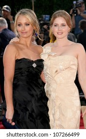 Christine Taylor and Amy Adams  at the Los Angeles Premiere of 'Tropic Thunder'. Mann's Village Theater, Westwood, CA. 08-11-08