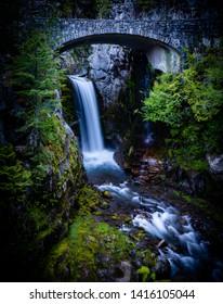 Christine Waterfalls on Mt Rainier, WA