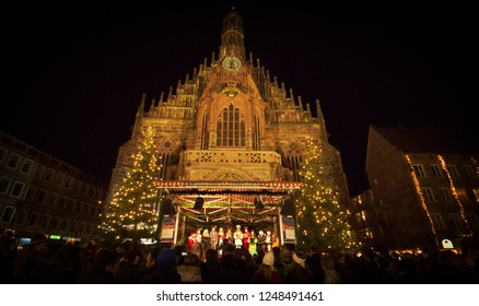 Christkindlesmarkt Nuremberg, Bavaria, Germany, 23 Dec. 2015 The world-famous Nuremberg Christmas Market takes place every year for the Advent season and is known for its special atmosphere.