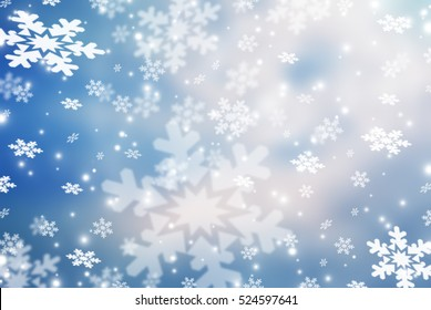 Christmas abstract  background with snowflake