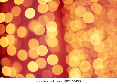christmas abstract shiny bokeh in yellow golden colors new year illunination seasonal vintage hipster