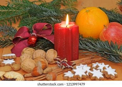 Christmas or advent arrangement