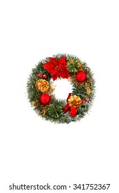 Christmas alphabet, letter O, isolated on white