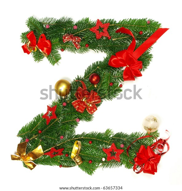 Christmas Alphabet.Christmas Alphabet Letter Z Stock Photo Edit Now 63657334