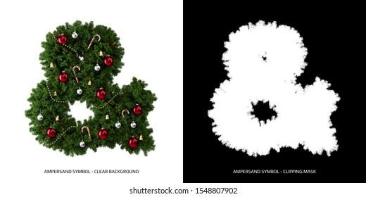 Christmas ampersand symbol. Christmas typography.