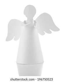 Christmas angel isolated on white