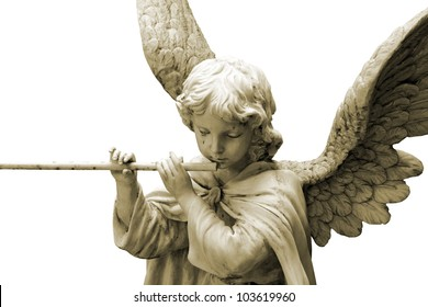 Christmas Angel with Pipe