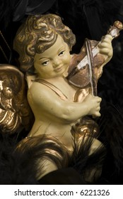 a christmas angel with a violin