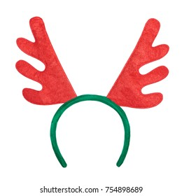 Christmas antlers of a deer isolated on white background