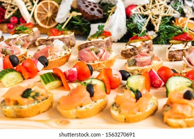 Christmas appetizers on the table