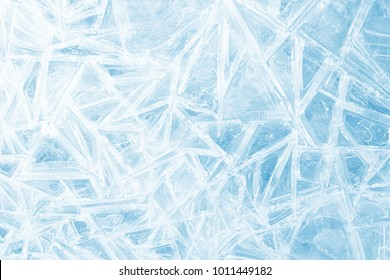 christmas background, abstract pattern of ice on sunrise