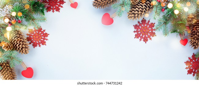 Christmas background. Christmas arrangement