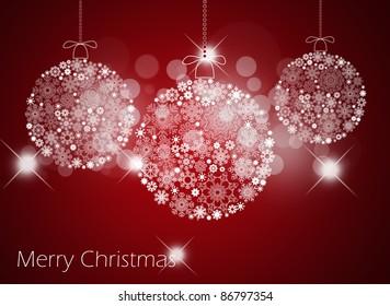 Christmas background with christmas balls.