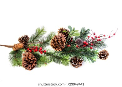 Christmas Background Blank Tag with Boarder