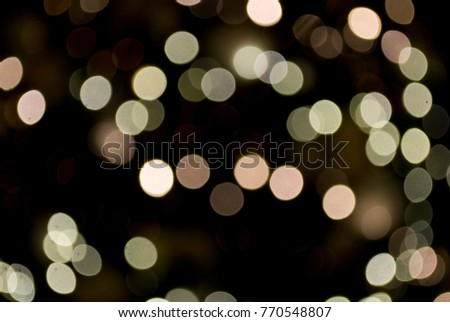 christmas background: blurry christmas lights in white, gold and antique  pink, defocused, - Christmas Background Blurry Christmas Lights White Stock Photo (Edit