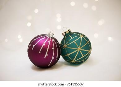 Christmas background and christmass balls