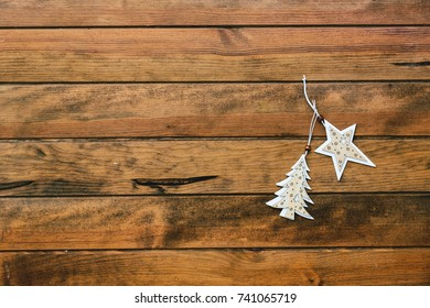 Christmas background. Copy space - Shutterstock ID 741065719