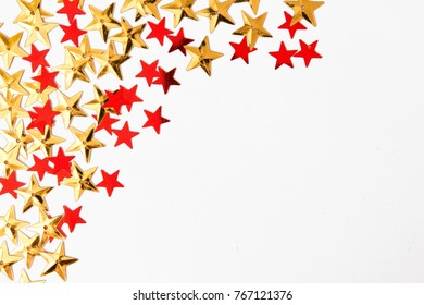 Christmas christmas background decorative decoration golden stars on a white background