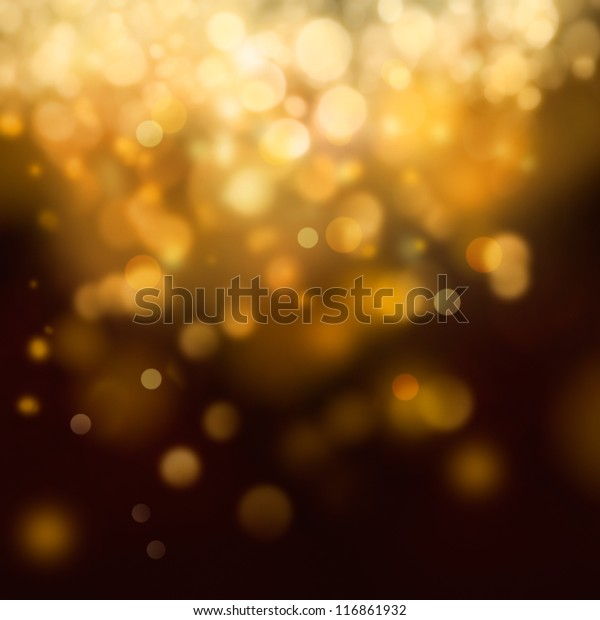Christmas background. Festive abstract background with bokeh defocused lights and stars