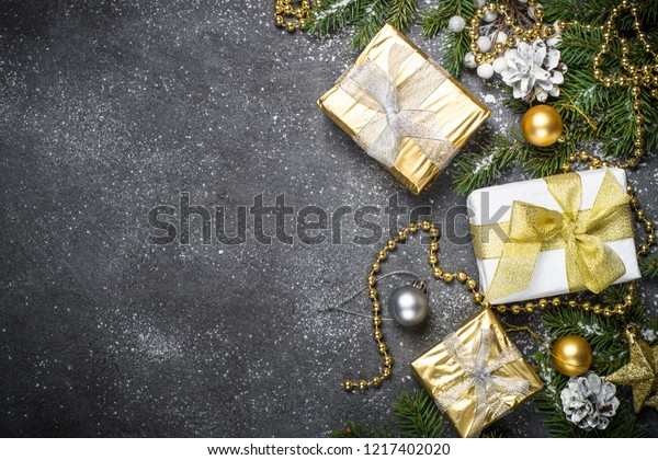 Black Gold And Silver Decorations  from image.shutterstock.com