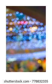christmas background, image blur colorful bokeh defocused lights decoration.