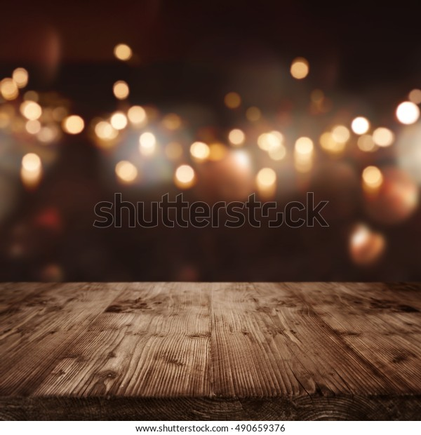 Christmas background with light spots and bokeh