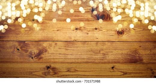 Weihnachtshintergrund mit Lichtern