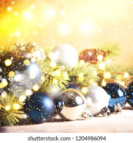 Christmas background and new year decoration