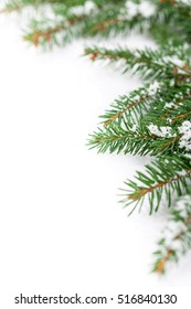 Christmas Background on White with space for text. Selective focus.
