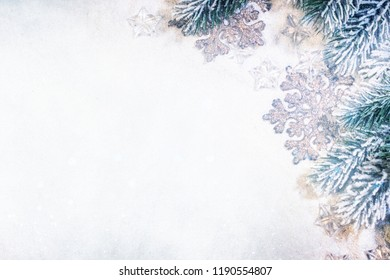 Christmas background. Christmas ornaments on the white