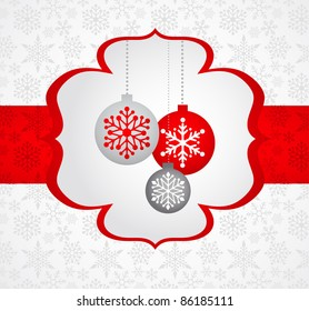 Christmas background with retro pattern - Shutterstock ID 86185111