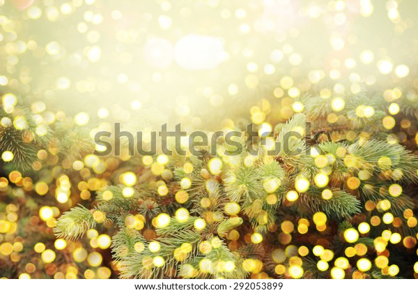 Christmas background with shining lights