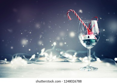 christmas background with snow,christmas decorations