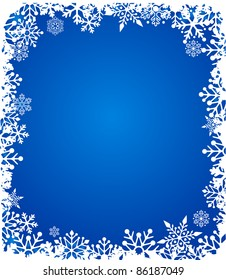 Christmas background with snowflakes pattern - Shutterstock ID 86187049
