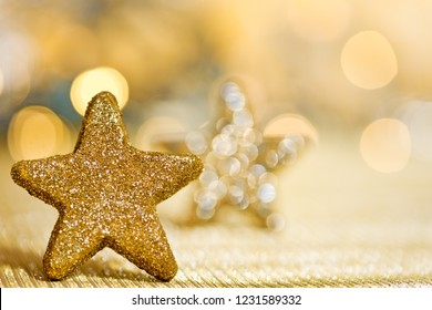 Christmas background with Christmas star and glitter